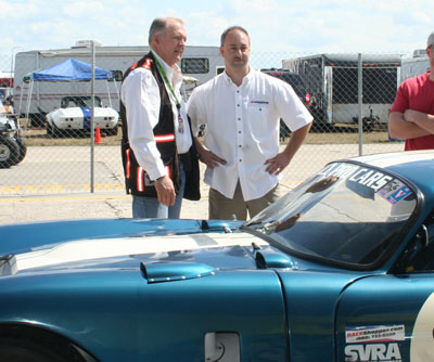 Peter Brock checking out the Daytona Coupe